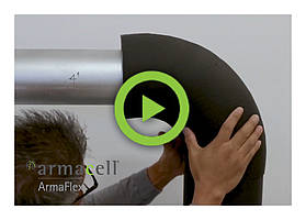 Watch our video on installing ArmaFlex sheet on a 90 degree bend for a larger pipe