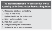 The basic requirements for construction works according to the Construction Products Regulation